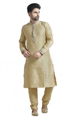Beige Colour Indian Kurta Pajama.