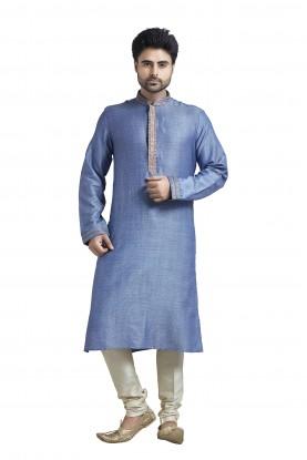 Blue Colour Readymade Kurta Pyjama.