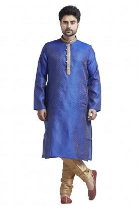 Blue Colour Designer Kurta Pajama.