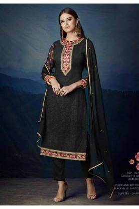 Buy Black Colour Party Wear Designer salwar kameez online