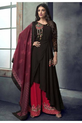 Buy Wine Colour Designer Indian Salwar Kameez Online