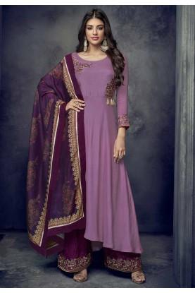 Buy Purple Colour Party Wear Indian Salwar Kameez Online