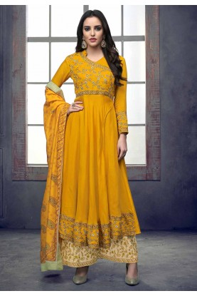 Yellow Colour Party Wear Salwar Kameez