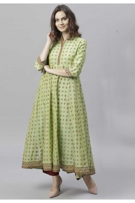 Buy Green Colour Indian kurtis Online