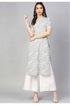 Buy Grey Colour Readymade Indian kurtis