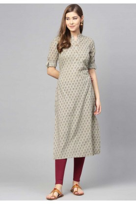Buy Grey Colour Indian kurtis Online
