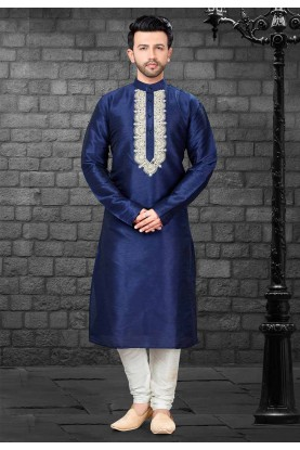 Blue Colour Readymade Kurta.
