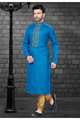 Blue Colour Party Wear Kurta.