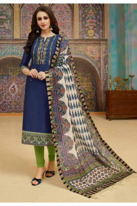 Buy Blue Colour Silk Indian Salwar Kameez Online