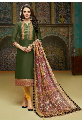 Buy Green Colour Designer Indian Salwar Kameez Online