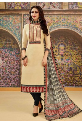 Buy Cream Colour Indian Salwar Kameez Online