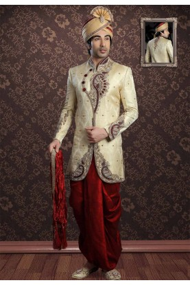 Golden Colour Indian Designer Indowestern.