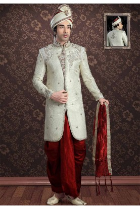 Cream Colour Men's Indowestern.