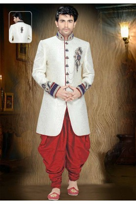 Buy sherwani online in Off White Colour