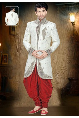 Buy designer sherwani in Indo western design