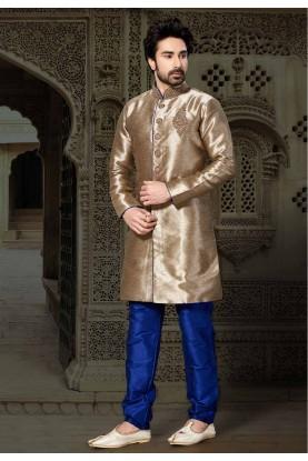 Beige,Brown Colour Readymade Kurta Pajama.