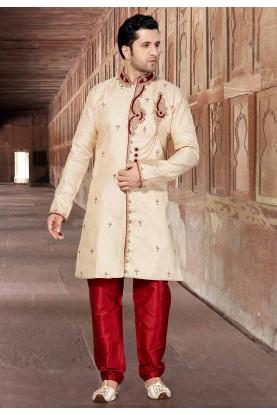 Cream Colour Designer Indowestern.