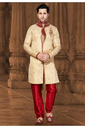 Golden Colour Men's Indowestern.