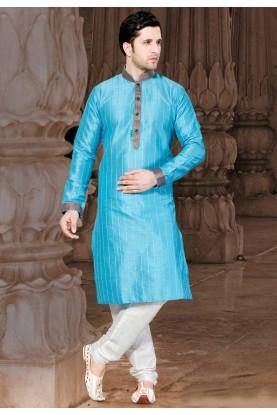 Turquoise Colour Kurta Pajama.