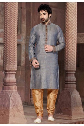 Grey Colour Kurta Pajama.