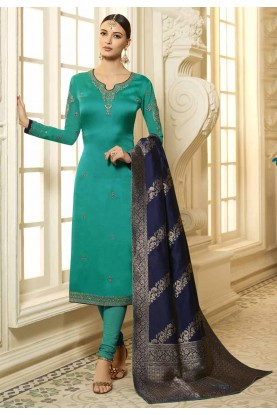 latest Green Colour Party Wear Designer salwar kameez online
