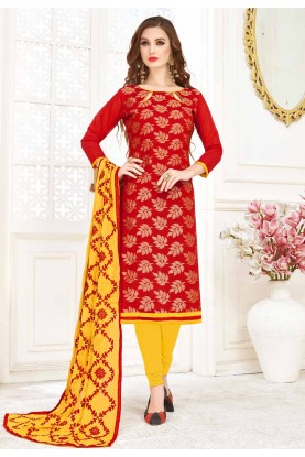 Buy Red Colour Designer salwar kameez online