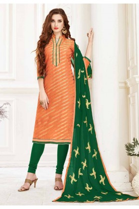 Buy Orange Colour Casual Designer salwar kameez online