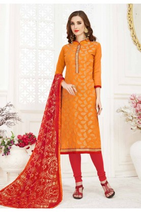 Orange Colour Indian Designer salwar kameez online