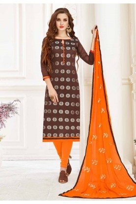 Brown Colour Salwar Kameez.