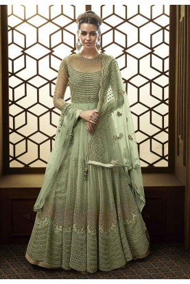 Want to Buy designer salwar kameez online in green colour