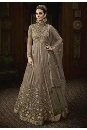 Buy latest salwar kameez online in Beige Colour