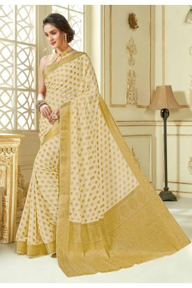 Beige Colour Saree.