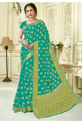 Sky Blue Colour Saree.
