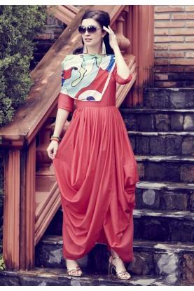 Red Colour Stylish Designer Kurti.