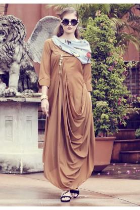 Brown Colour Readymade Kurti.