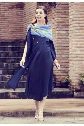 Blue Colour Designer Kurti.