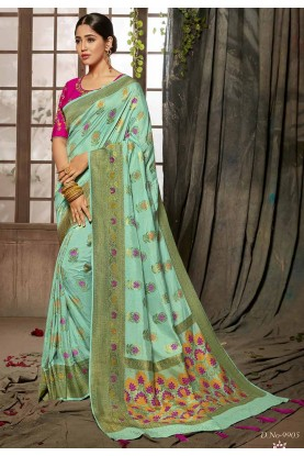 Buy Designer Sarees online in blue colour