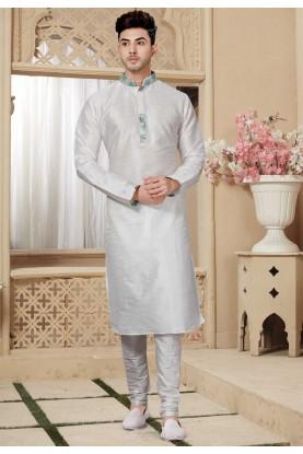 Off White Colour Kurta Pajama.