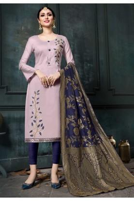 Pink Colour Salwar Kameez.