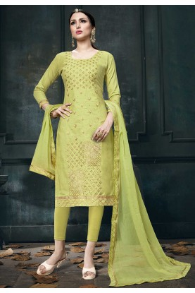 Green Colour Indian Salwar Kameez.