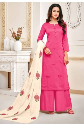 Pink Colour Party Wear Salwar Kameez.