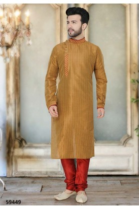 Buy stylish kurta pyjama online in brown colour