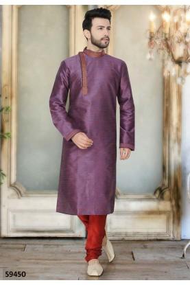 Buy stylish designer readymade kurta pajama in blue colour