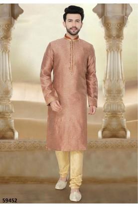 Buy designer readymade kurta pajama in rust colour