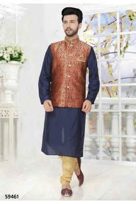 Buy kurta pyjama online in blue, maroon colour