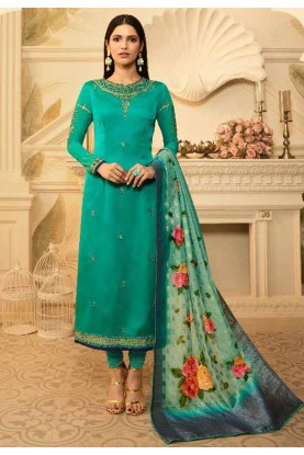 Green Colour Salwar Kameez.