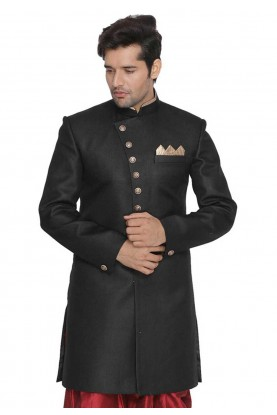 Black Colour Party Wear Indowestern.