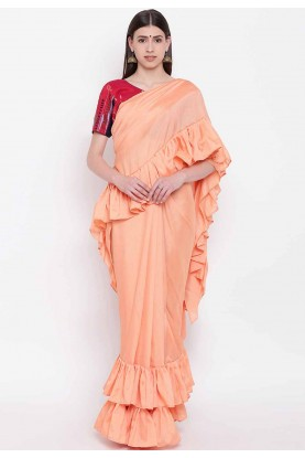 Orange Colour Silk Saree.