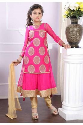 Pink Girl's Salwar Suit.