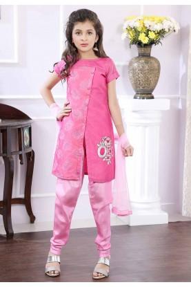 Girl's Pink Salwar Suit.